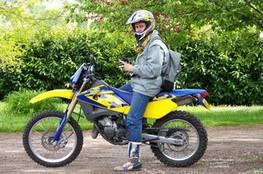 Paulo avec sa 125 WRE