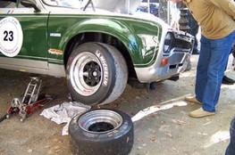 Vue de pneus Slicks