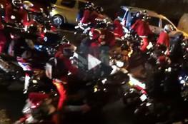 Vidéo Les Pères Noel en moto